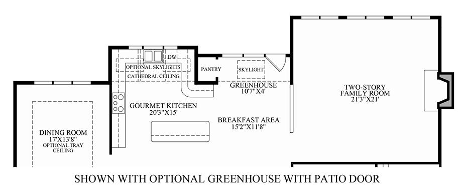 Optional Greenhouse w/ Patio Door Floor Plan