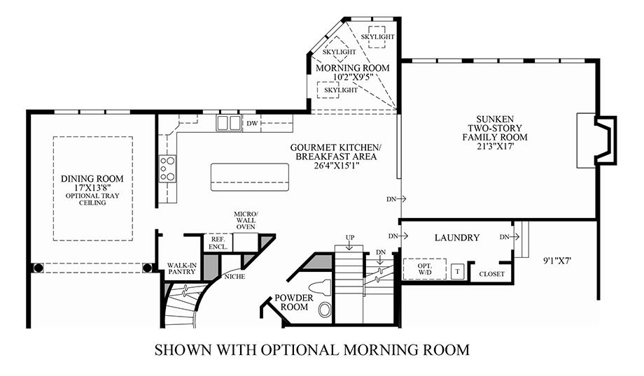 Optional Morning Room Floor Plan