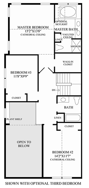 Optional 3rd Bedroom Floor Plan