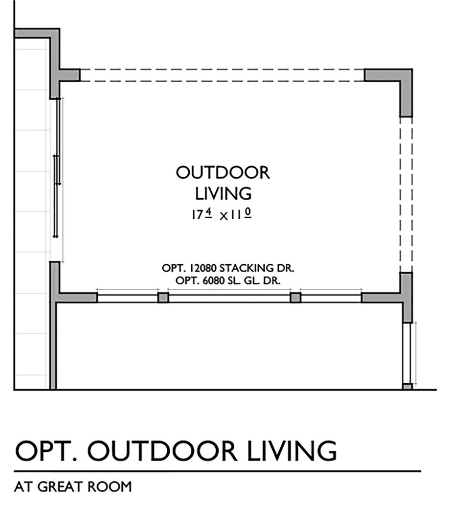 Optional Outdoor Living Space Floor Plan