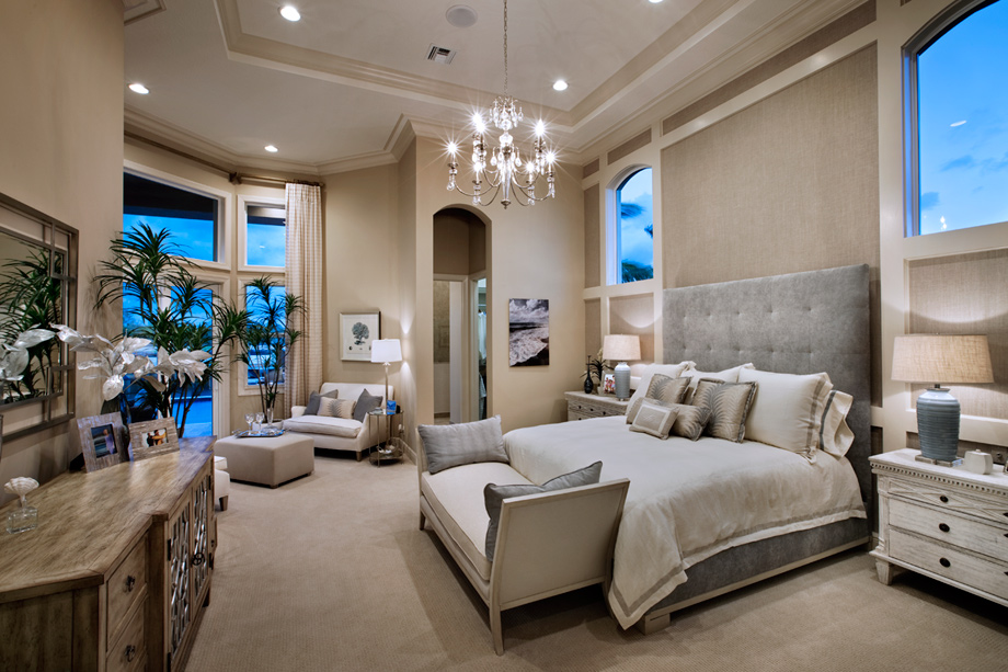 Parkland golf and country club by toll brothers monogram for Model home master bedrooms