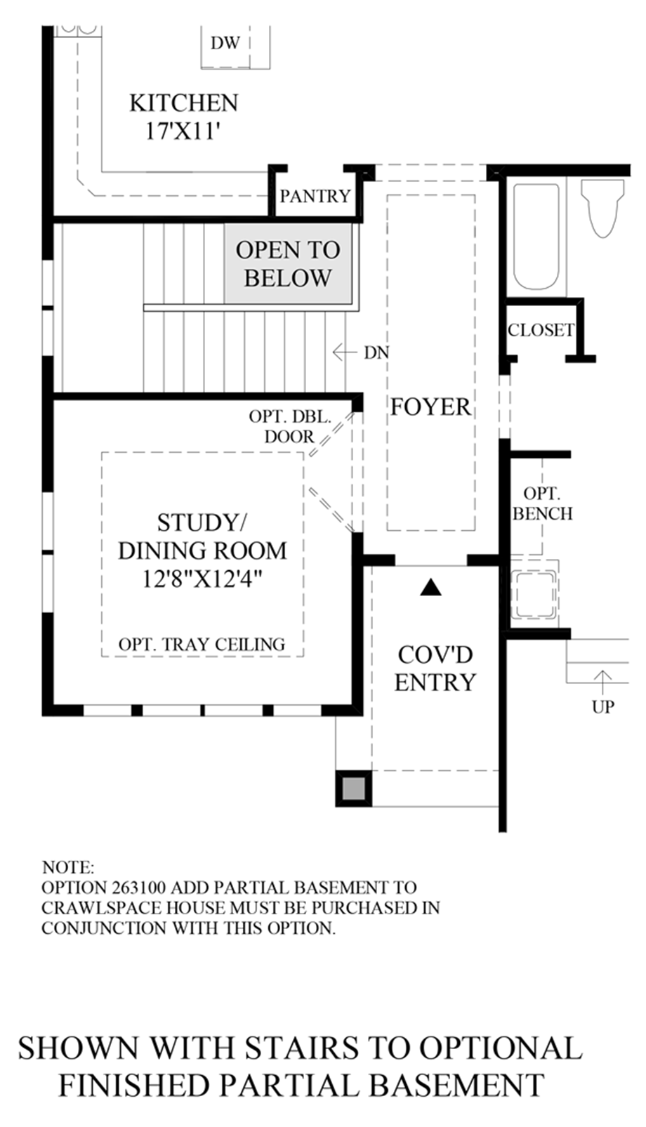Optional Stairs to Finished Basement Floor Plan