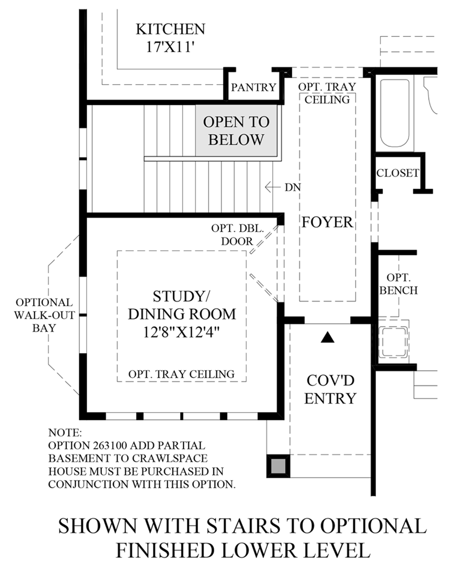 Optional Stairs to Finished Lower Level Floor Plan