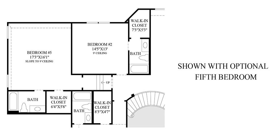 Optional 5th Bedroom Floor Plan
