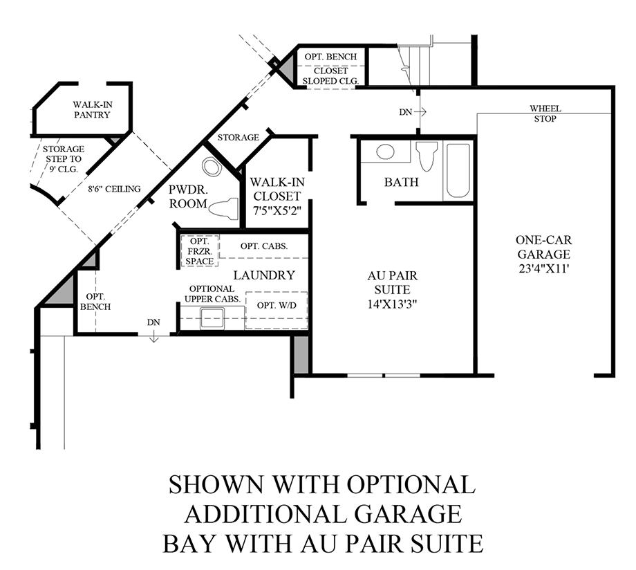 Optional Additional Garage Bay w/ Au Pair Suite Floor Plan
