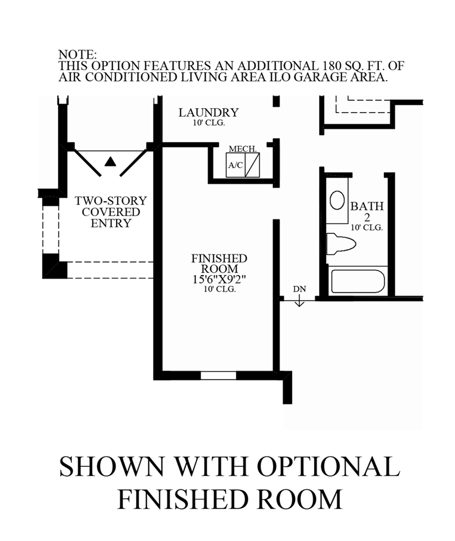Optional Finished Room Floor Plan