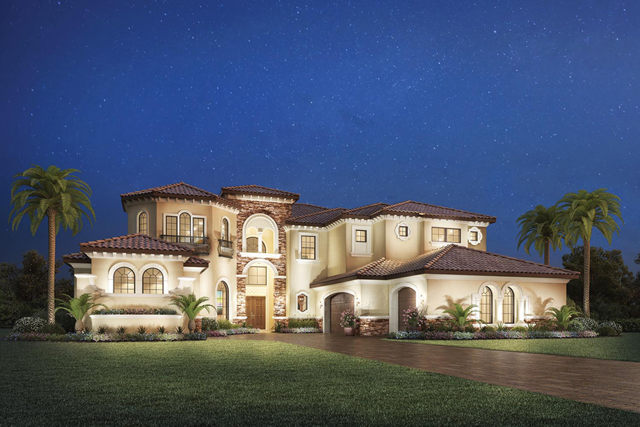 Casabella at windermere the casa del rey home design for Florida mediterranean style homes