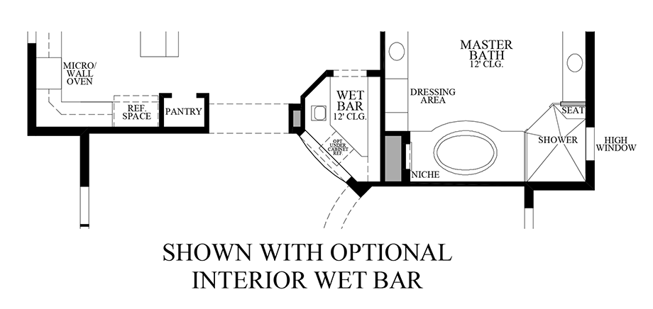 Optional Interior Wet Bar Floor Plan