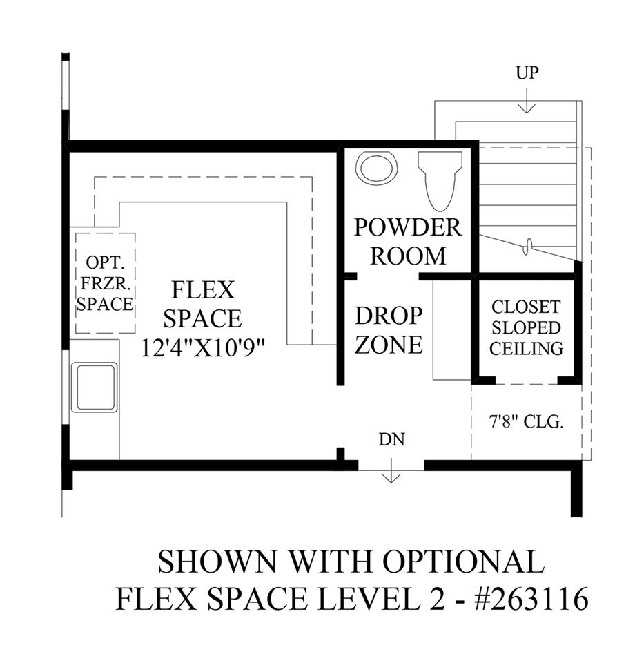 Optional Flex Space Level 2 Floor Plan