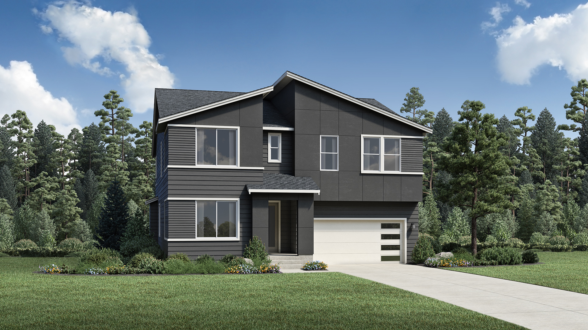 The Cashmere Contemporary highlights that array of architectural styles throughout the community