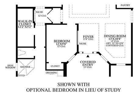 Optional Bedroom ILO Study