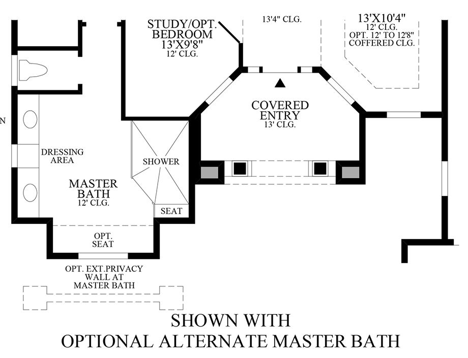 Optional Alternate Master Bath Floor Plan