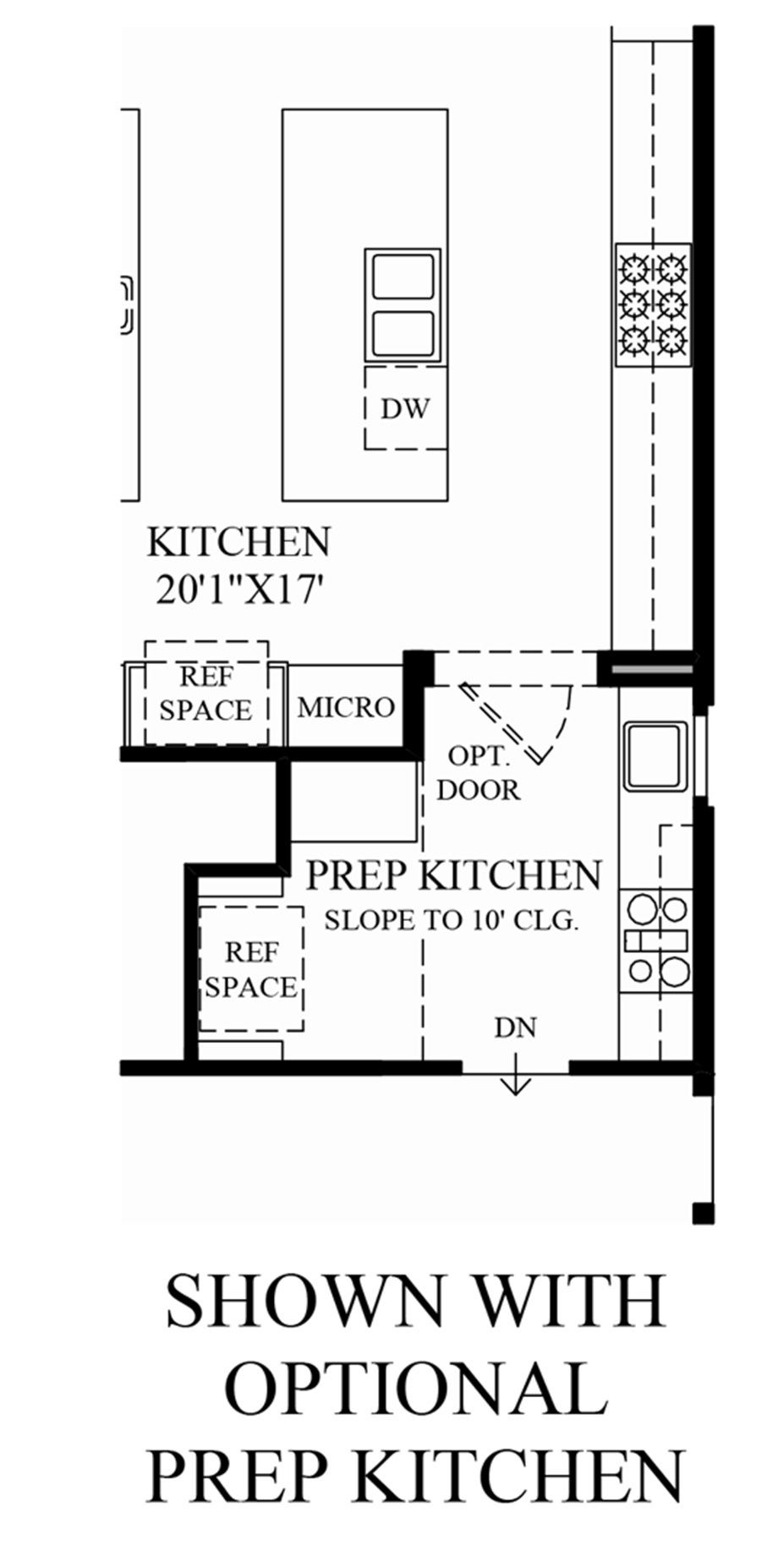 Optional Prep Kitchen Floor Plan