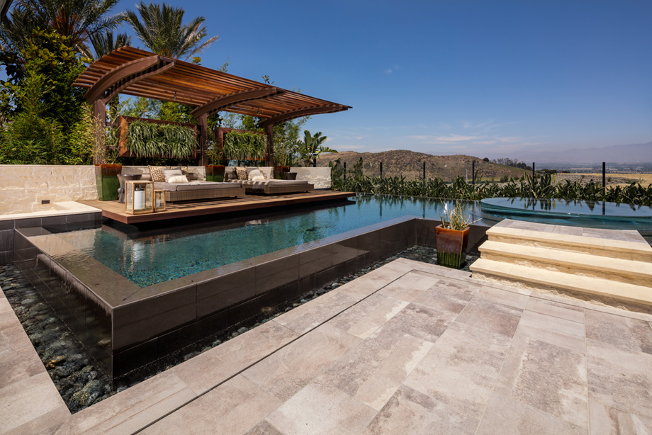 Toll brothers at hidden canyon marbella collection the for Stunning pool designs