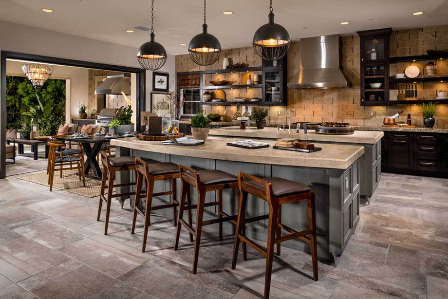 Toll brothers at hidden canyon marbella collection the for Kitchen in the canyon