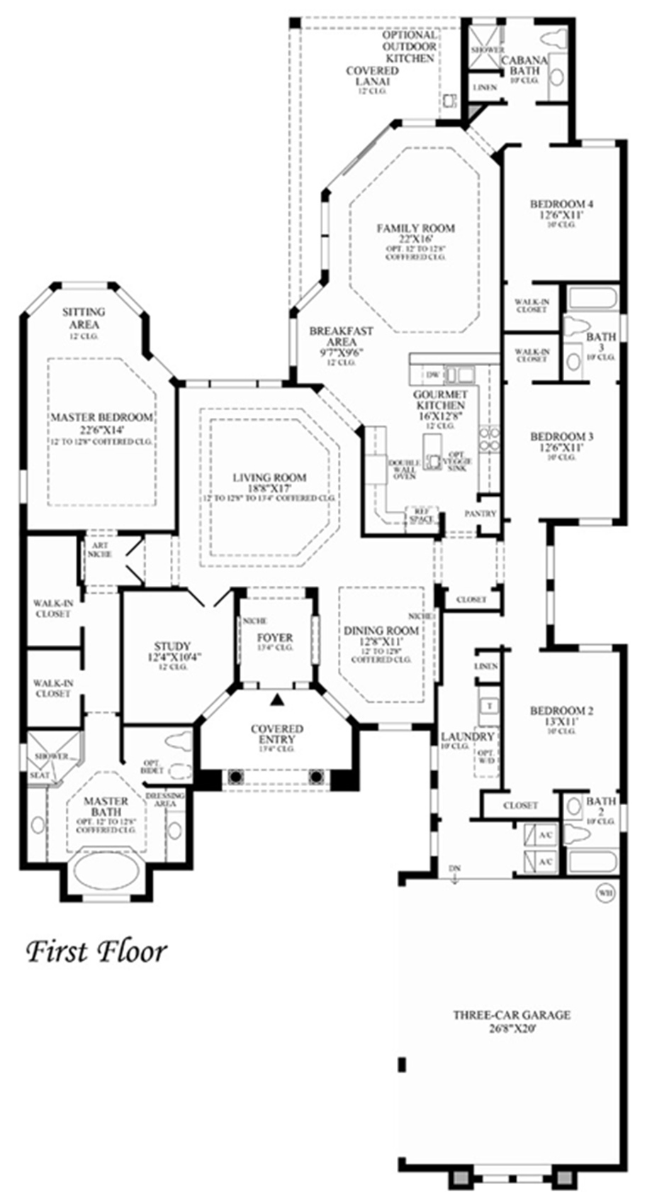 Toll brothers floor plans florida thefloors co for Floor plans florida