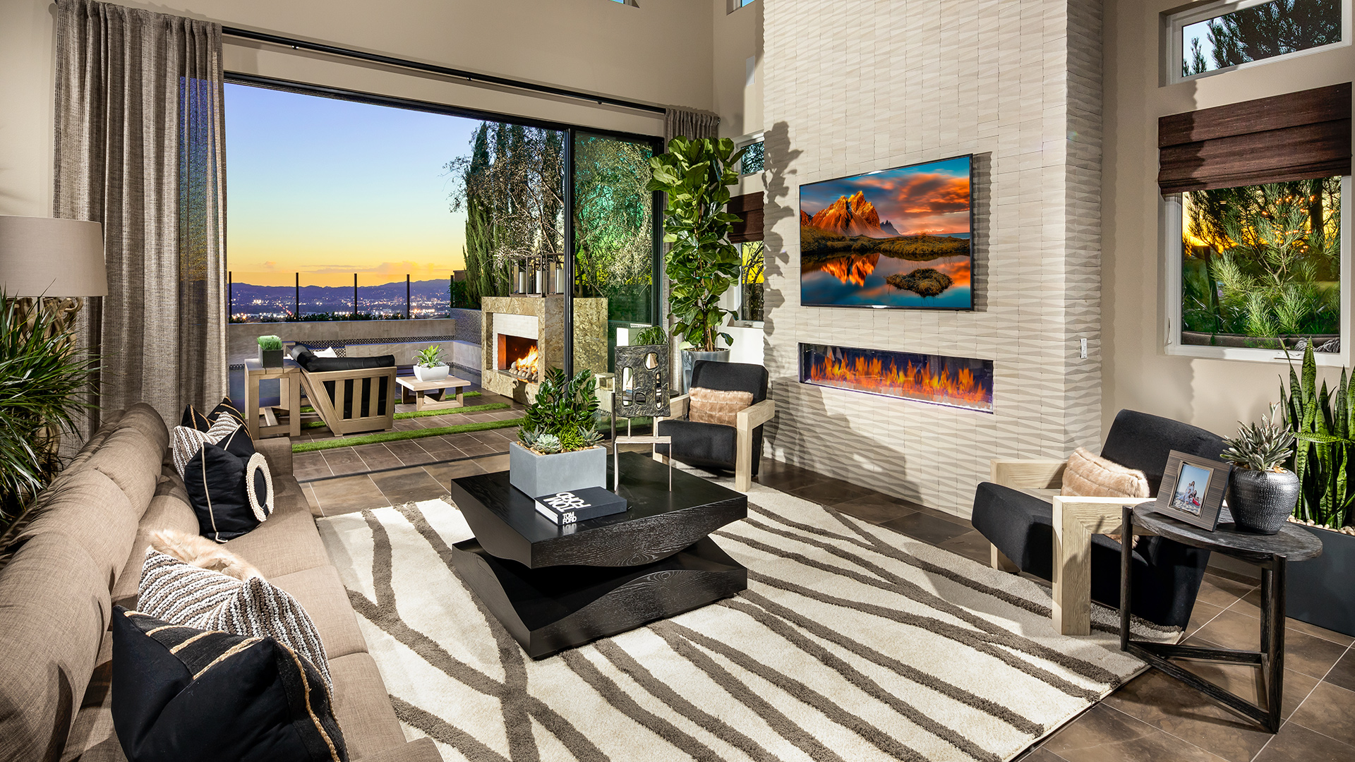 The Living Room   Westcliffe At Porter Ranch Cascades Collection The Castor Home