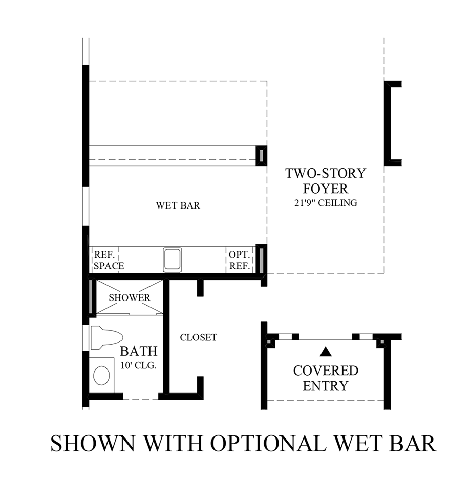 Optional Wet Bar Floor Plan
