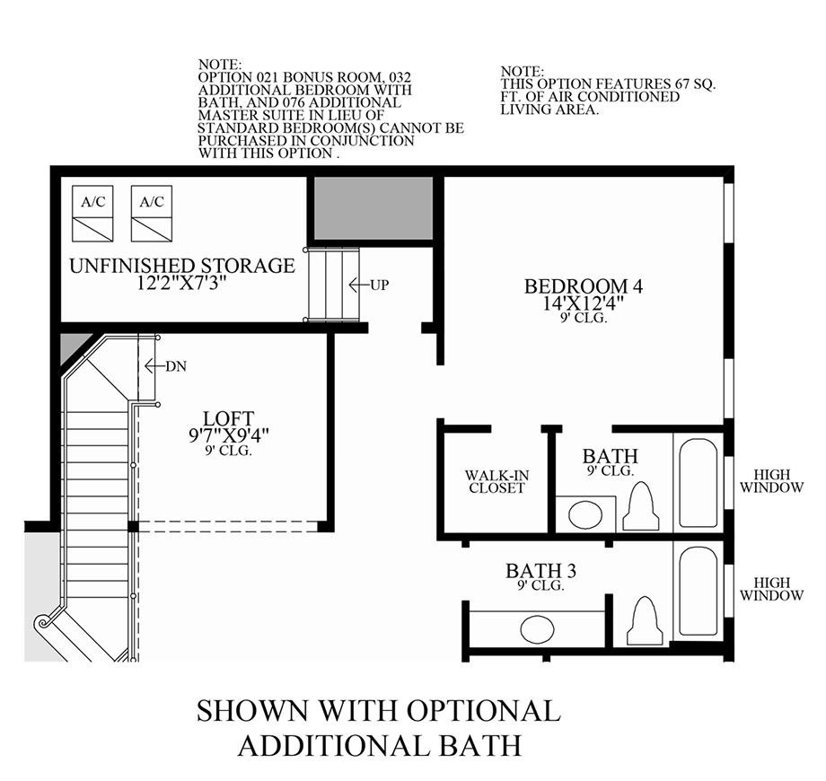 Optional Additional Bath Floor Plan