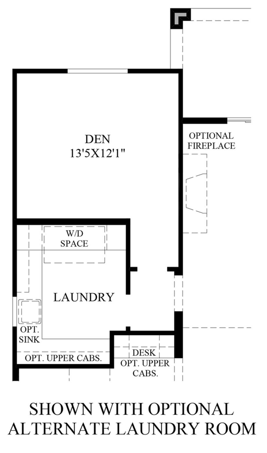 Optional Alternate Laundry Room Floor Plan