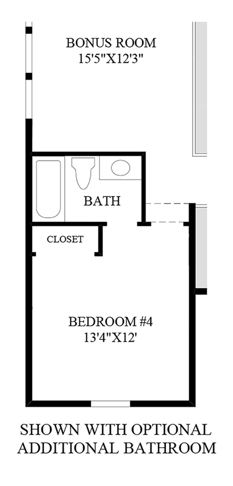 Optional Additional Bathroom Floor Plan