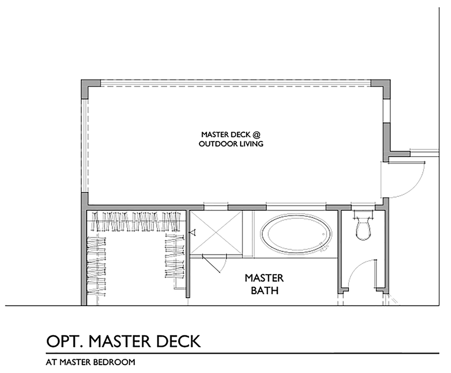 Optional Master Deck Floor Plan