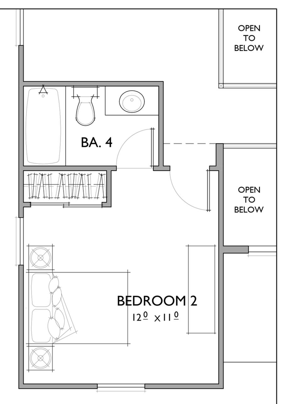 Optional 4th Bathroom Floor Plan
