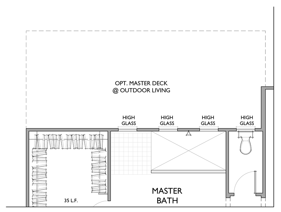 Optional Tub/Shower Floor Plan