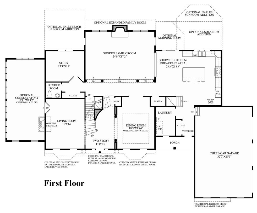 Toll Brothers Carlsbad Floor Plan: The Covington Home Design