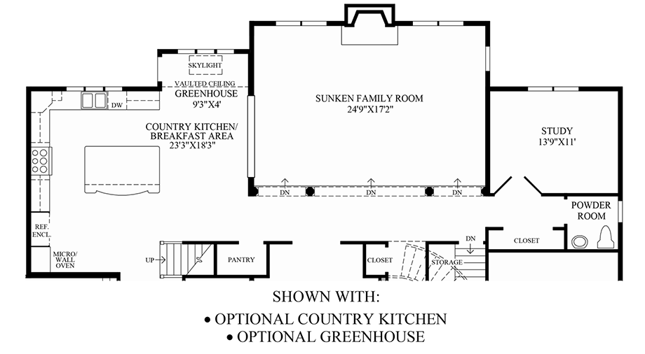 Optional country kitchen greenhouse floor plan for Greenhouse floor plan