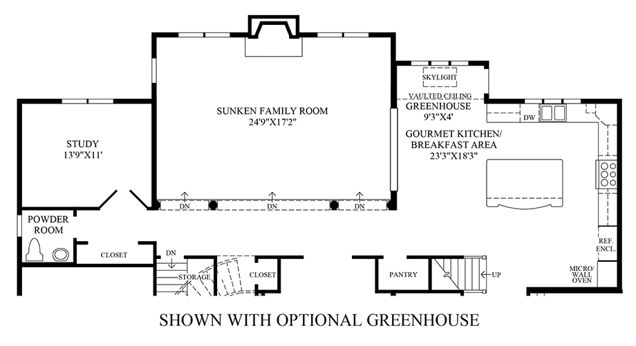 Optional Greenhouse Floor Plan