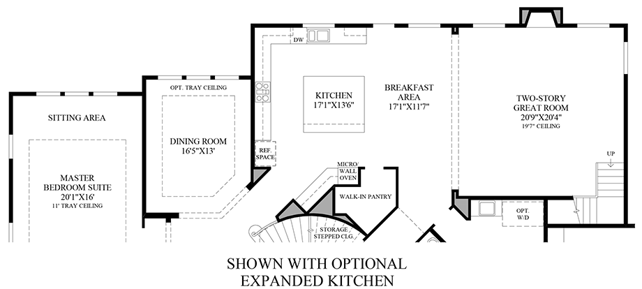 Optional Expanded Kitchen 1st Floor Floor Plan