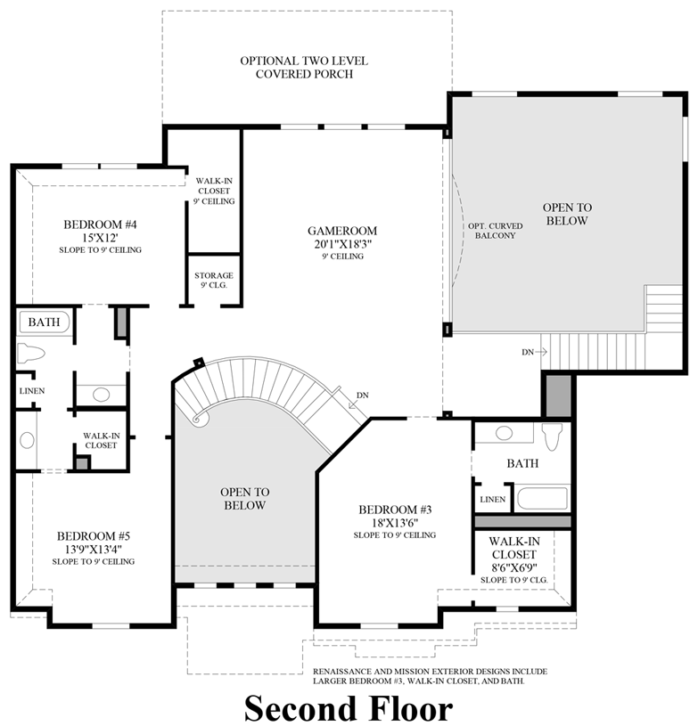 Southlake TX New Construction Homes – Charleston Homes Floor Plans