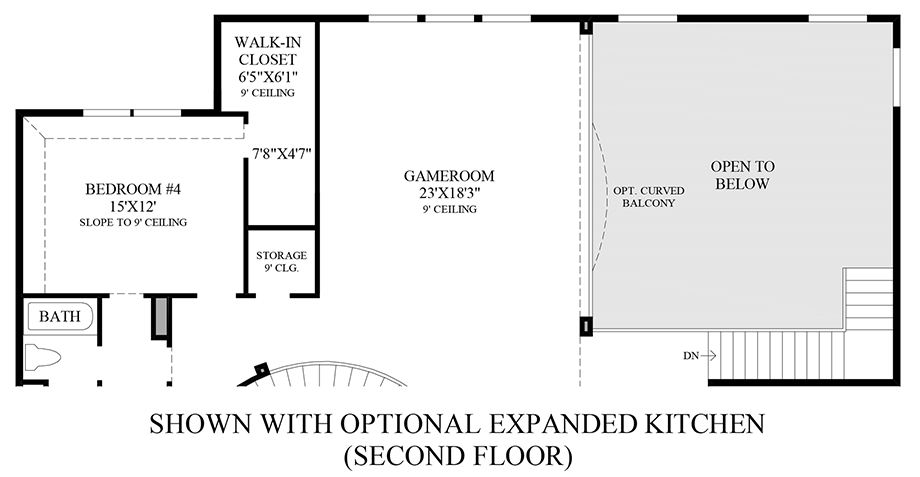 Optional Expanded Kitchen 2nd Floor Floor Plan