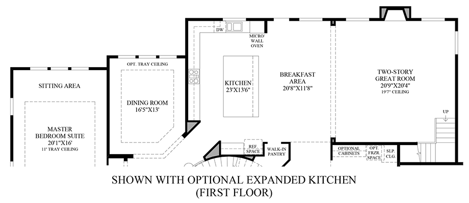 Optional Expanded Kitchen (1st Floor) Floor Plan