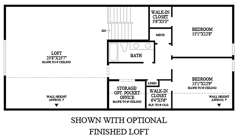 Optional Finished Loft Floor Plan