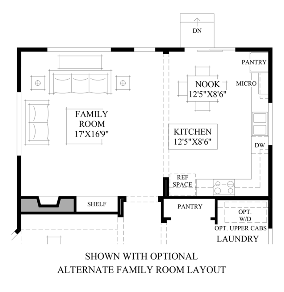 Optional Alternate Family Room Layout Floor Plan