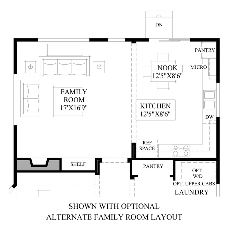 Optional Alternate Family Room Layout Floor Plan
