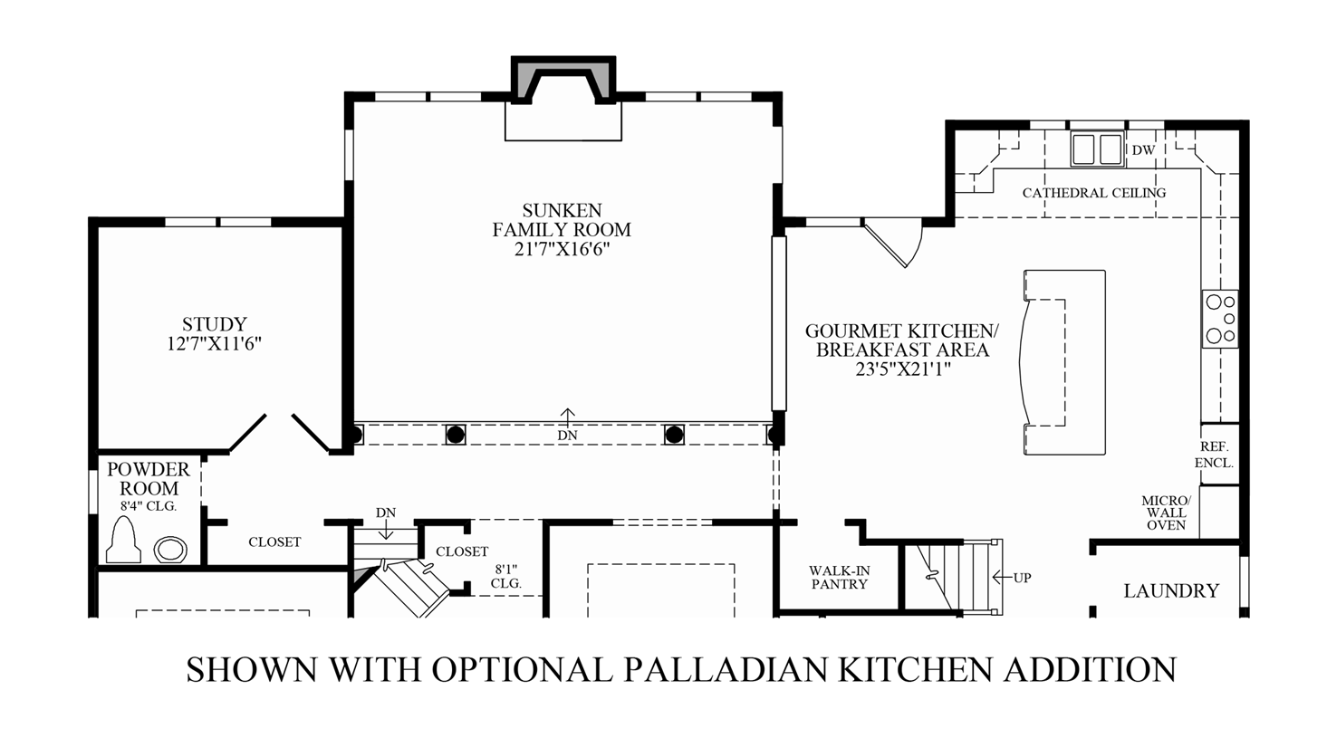 Pics for country kitchen floor plans for Country kitchen home plans