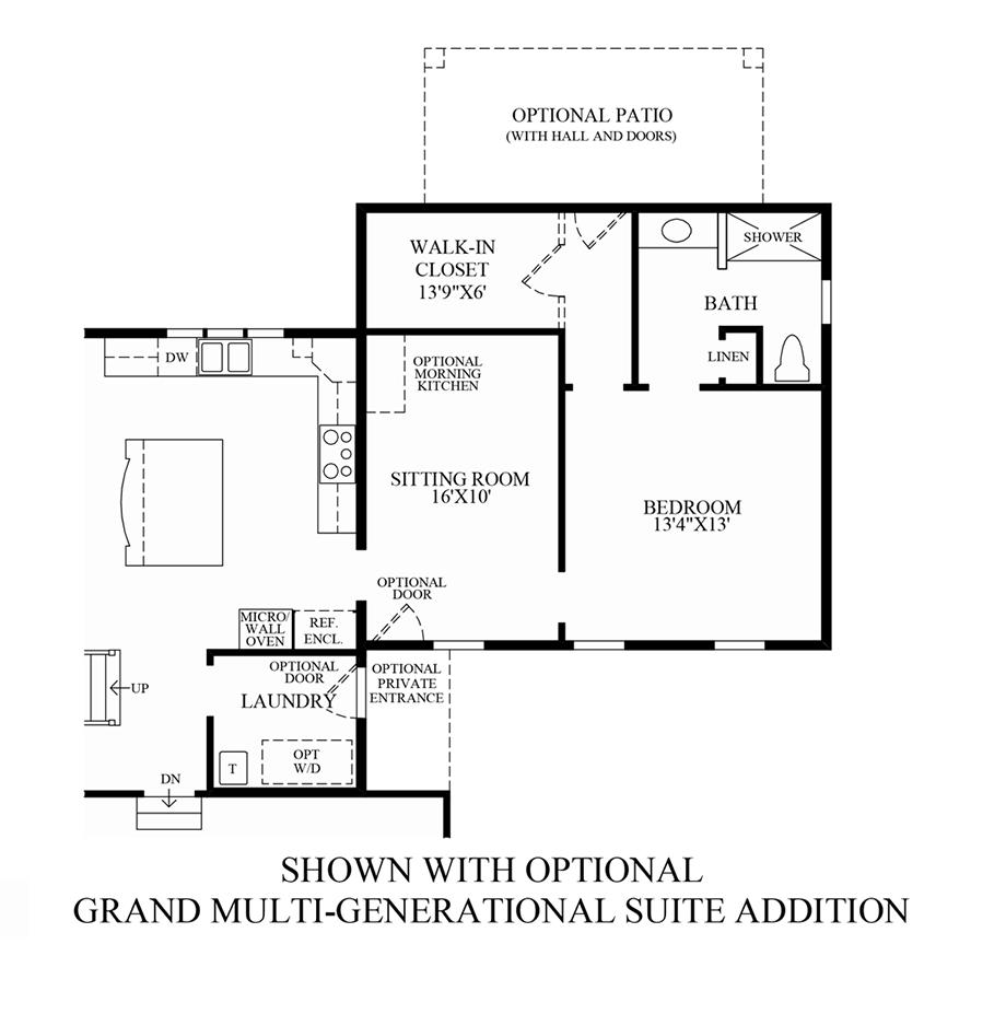 Optional Grand Multi-Generational Suite Addition Floor Plan