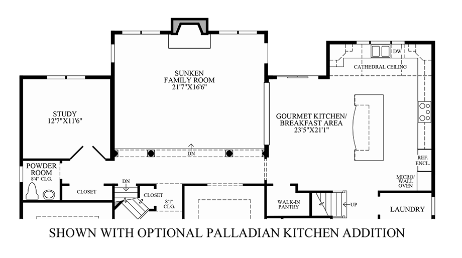 Reserve at makefield the chelsea home design for Kitchen addition plans