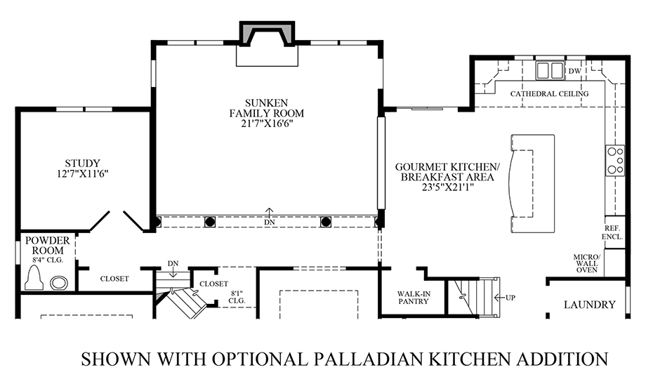 Alexandria estates the chelsea home design for Create your own kitchen floor plan