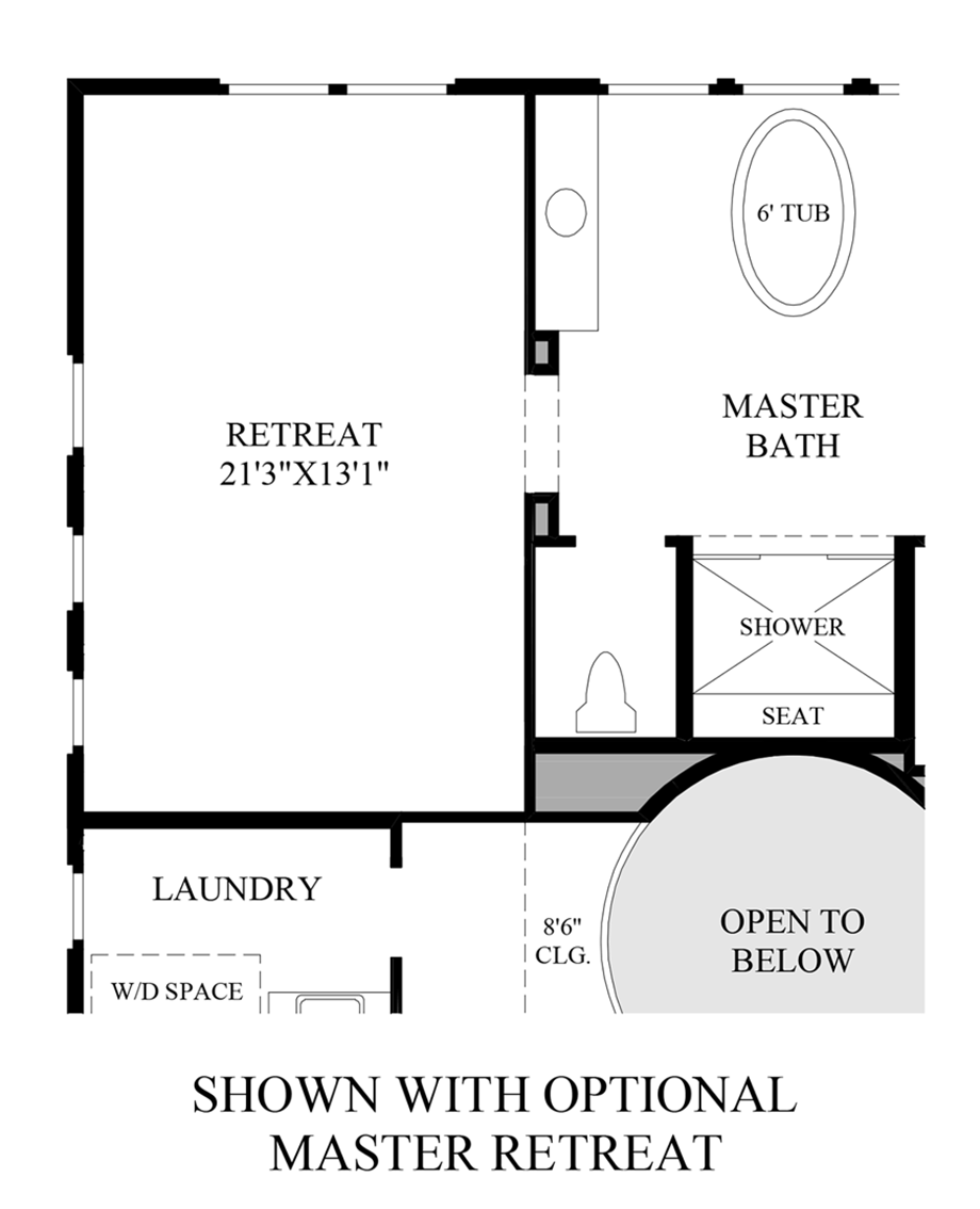 Optional Master Retreat Floor Plan