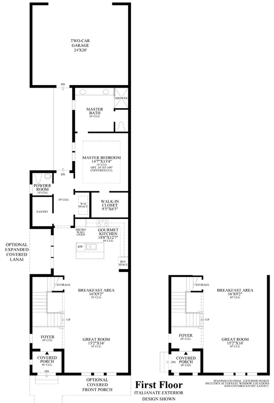 Spanish colonial floor plans for Spanish colonial house plans