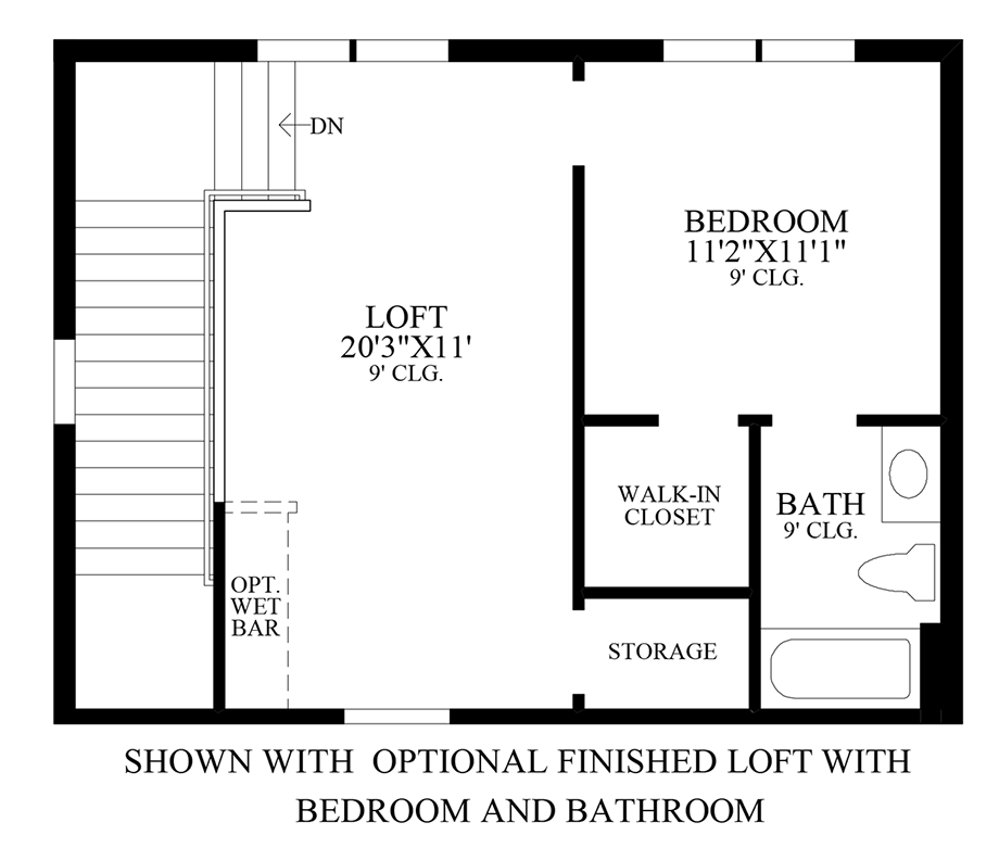 Optional Loft Floor Plan