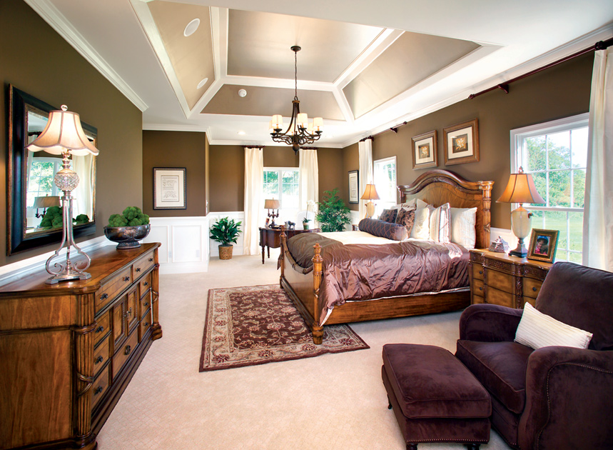 New castle de new homes for sale high pointe at st for Model home master bedrooms