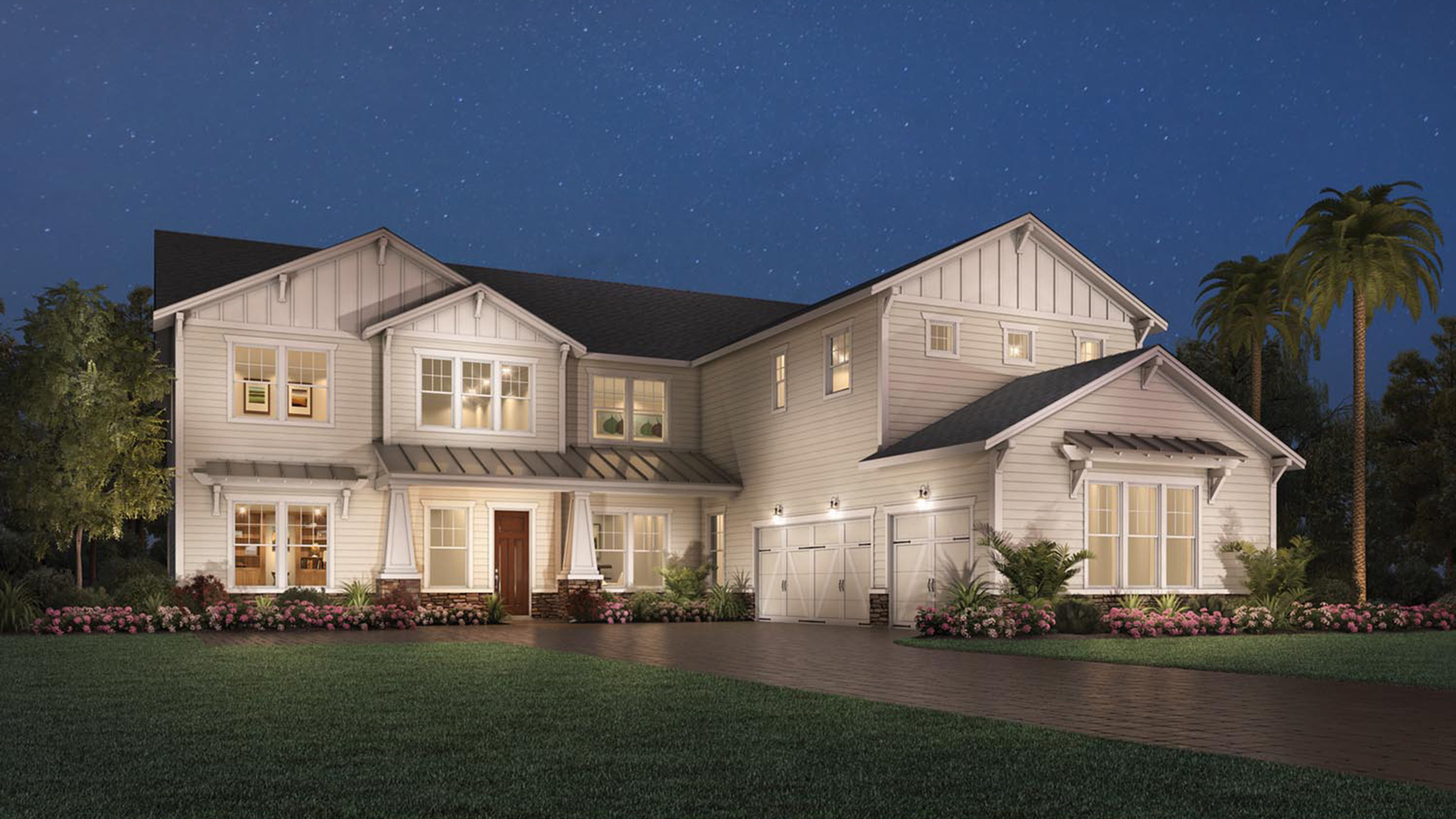 Julington lakes estate collection quick delivery home for Craftsman homes for sale in florida
