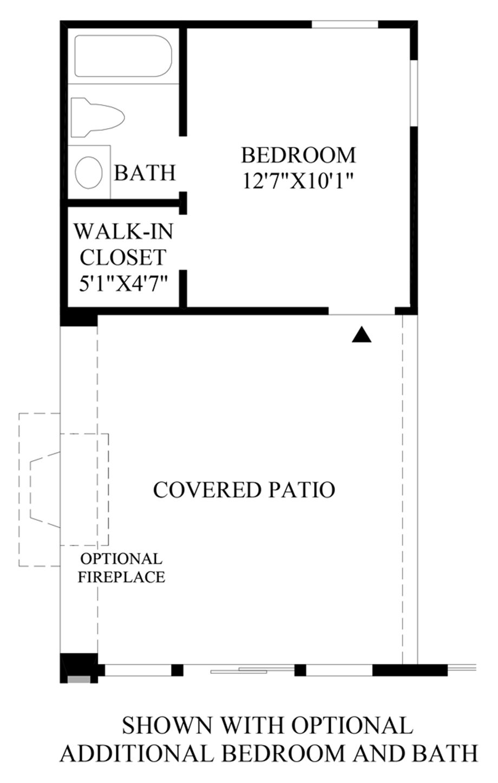Optional Additional Bedroom & Bath Floor Plan