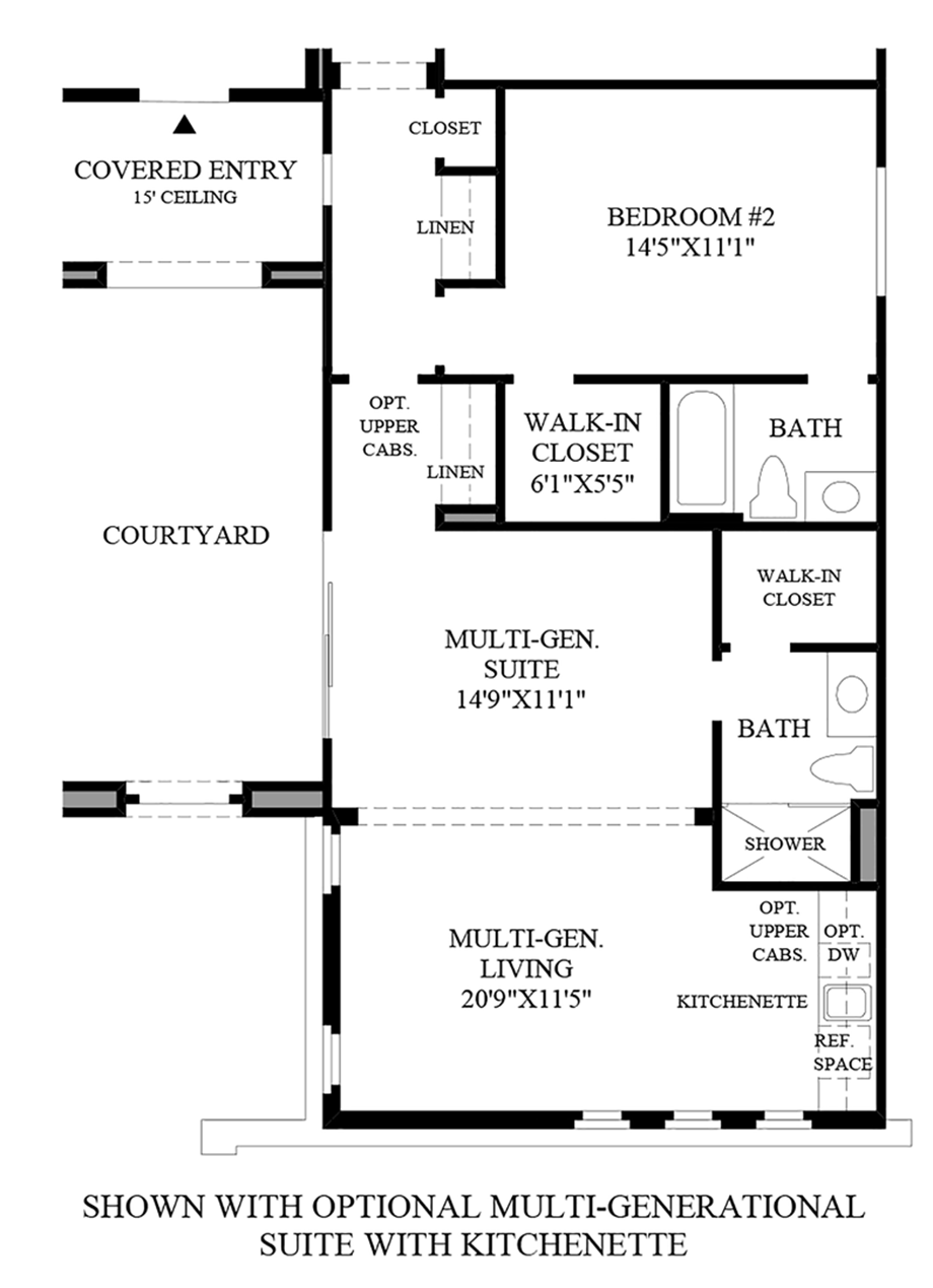 Optional Multi-Generational Suite with Kitchenette Floor Plan