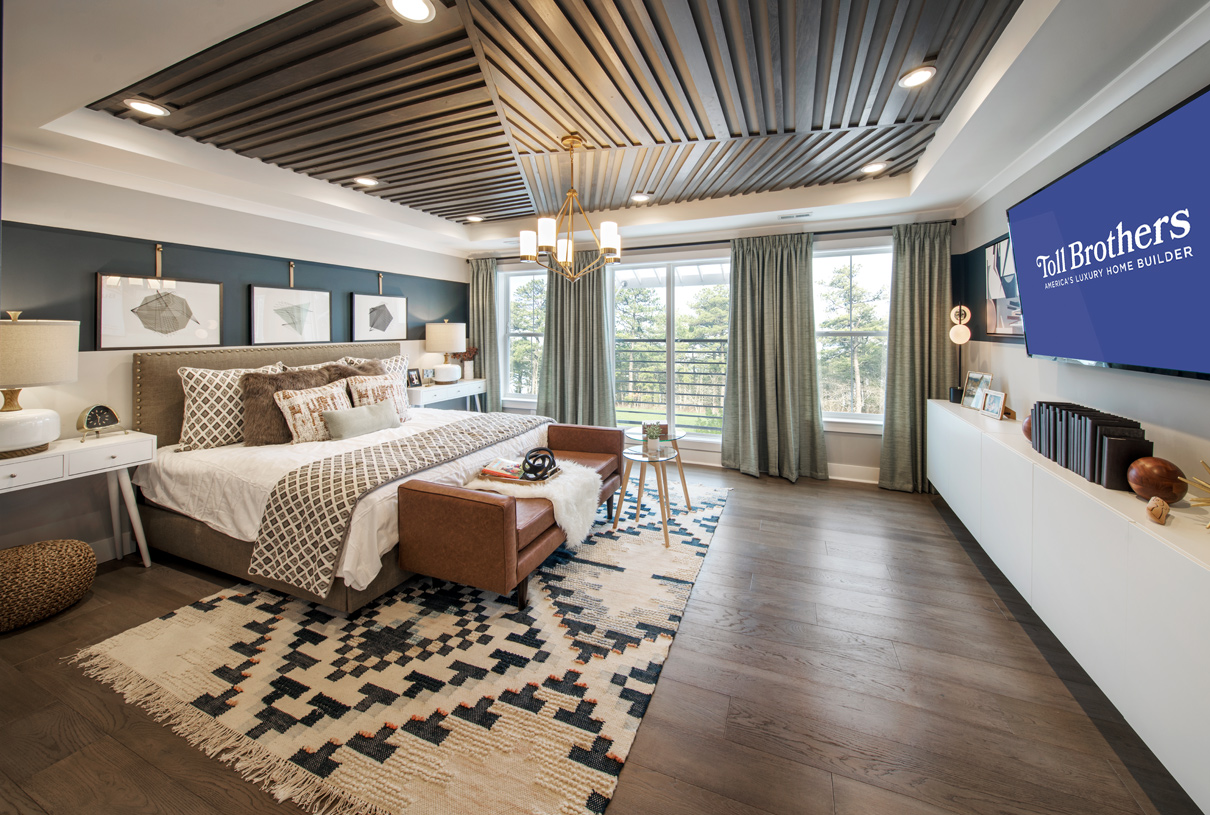 Spacious primary bedroom suite